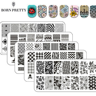 65Patterns Nail Art Stamping Stamp Image Plates BORN PRETTY Templates Tools