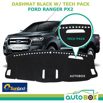 DashMat for Ford PX2 Ranger XLT with Tech Pack Black Sunland Protection 09/2015