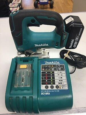 Makita Djv182 18 Volt Cordless Brushless Jigsaw With Battery And Charger