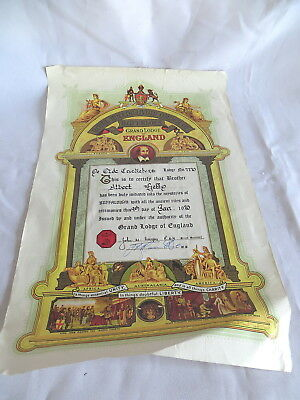 1970 Raob Colour Certificate Awarded To Albert Getty - Ye Old Cricketers (71)
