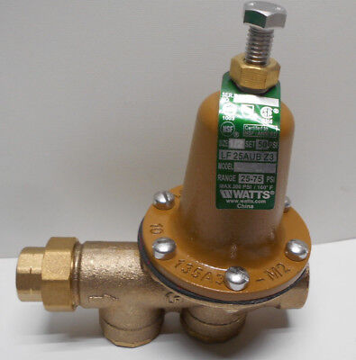 "Watts LF25AUB-Z3 3/4"" Lead Free Water Pressure Reducing Valve 25-75 psi"