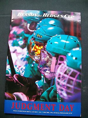 Benson and Hedges Cup 1994 'Judgement Day' Cardiff Devils v Nottingham Panthers