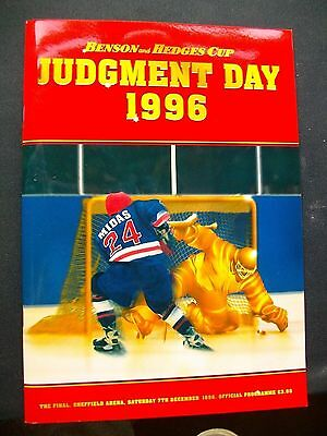 Benson and Hedges Cup 96 'Judgement Day' Ayr Scottish Eagles Nottingham Panthers
