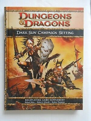 Dungeons & Dragons 4th ed - Dark Sun Campaign Setting with map