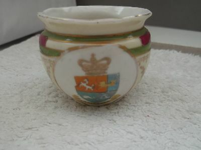 Model Of A Small Coloured Bowl Crested Ramsgate   By Gemma China