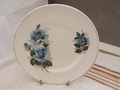 China  Side Plate   By Mayfair  Pottery  With A Blue Rose  Pattern