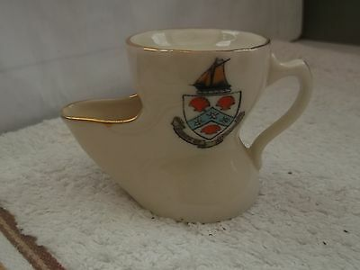 Model Shaving Mug  Crested Burgh Of Millport By Albion China  T.c & P