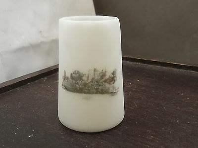 Small Opalescent  Glass  Vase  With A View  Genuine Dolhain Wirths  To Base