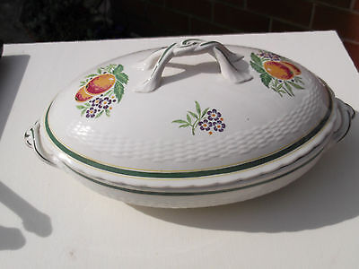 Oval Minton Lidded Tureen With A Fruit And Flower Pattern Possibly 1920