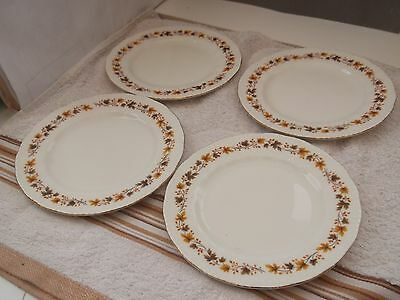 Four Royal Kent Side Plates In Golden Glory Pattern  Autumn  Leaves