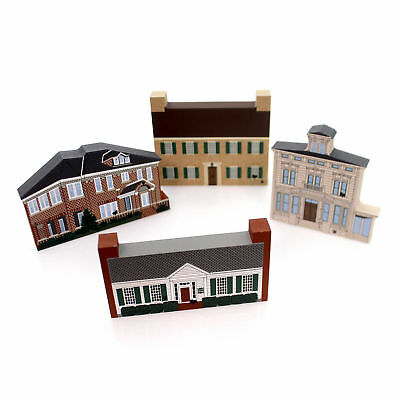 Cats Meow Village GREAT AMERICAN SERIES SET / Boone Boys Town Retired Gas Set/4