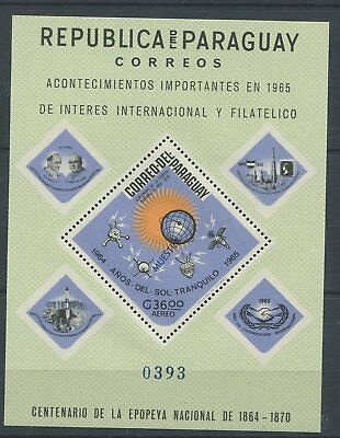 OD 4961. Paraguay. Space. Flags. Dad Paul. Philatelic Exhibition. MNH.