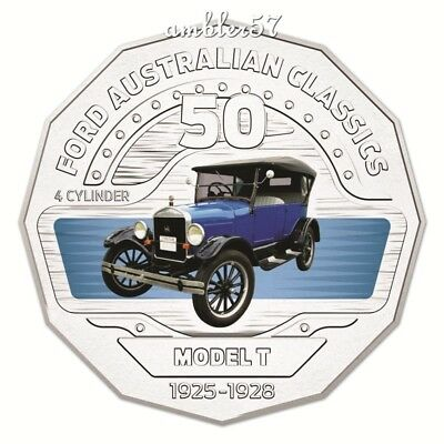 **2017 Ford Australian Classic T Model 50cent carded UNC **