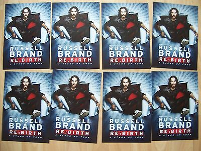 8 flyers Russell Brand Re:Birth stand up comedy tour 2017/18