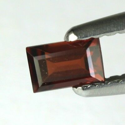 *0.45 cts. 5.2 x 3.3 mm. NATURAL OCTAGON RED ALMANDINE AFRICA