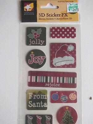AMERICAN TRADITIONAL 3D FX MOTION STICKERS - DEAR SANTA Christmas