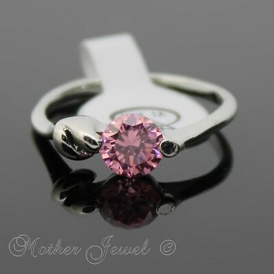 Perfect Gift October Birthstone Cz Silver Sp Ladies Girls Dress Ring Size 7.5 O