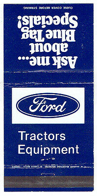 Ford Tractors & Equipment Matchbook Cover