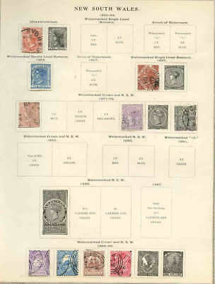 NEW SOUTH WALES & MORE 6 PAGES COLLECTION LOT MOUNTED 99c NO RESERVE