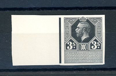 Great Britain George V  3s Imperforate Black Plate Proof unmounted MINT  (O1246)