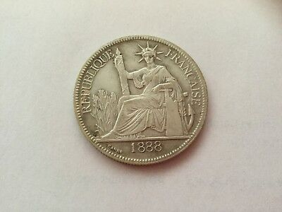 French Indochina Coins Silver Piastre Trade Dollar 1888