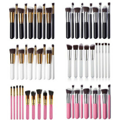 10Pcs Makeup Cosmetic Eyeshadow Brushes Set Powder Foundation Lip Brush Tools