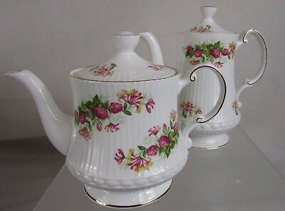 Queens Rosina China Teapot & Coffee Pot##str118Sd