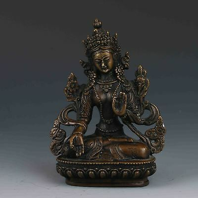 Vintage Chinese Old Bronze Handwork Buddha Statues
