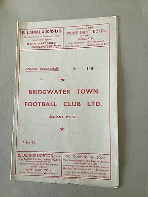 BRIDGWATER TOWN Res v STONEHOUSE Res 1951/2.
