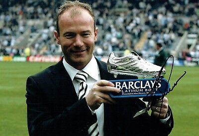 Alan SHEARER Boot Photo Signed Autograph AFTAL COA Newcastle United Magpies NUFC