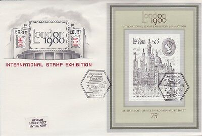 Gb Stamps Mini Sheet First Day Cover 1980 London Concorde Rare Pmk Collection