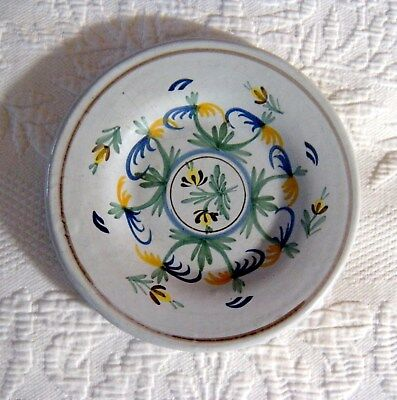 Antique 19thC Nevers Tin Glazed French Faience Pottery Plate