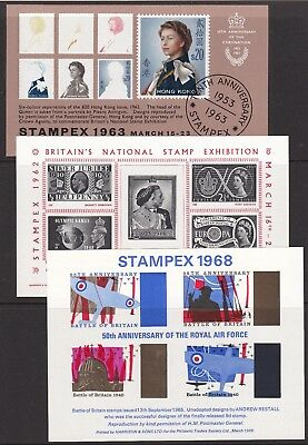 Gb Great Britain Collection 18 Different Never Hinged Mint Souvenir Sheets