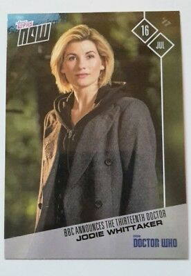 Doctor Who Jodie Whittaker Limited Edition Topps Trading Card 2017