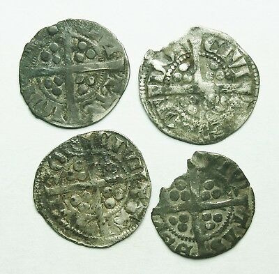 Interesting Selection Of Four Edward I Ar Pennies (148Y)