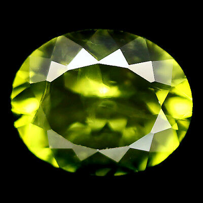 3.91 Ct Natural! Green Peridot Oval Pakistan Delightful