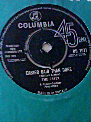 L@@k The Essex Easier Said Than Done / Are You Going My Way Columbia R&b Soul Ex