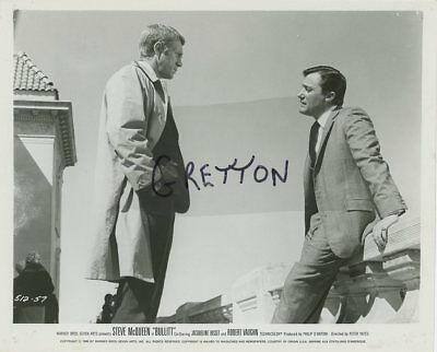 STEVE McQUEEN & ROBERT VAUGHAN in BULLITT ORIGINAL PHOTO 2