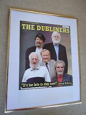 The Dubliners Gig Concert Poster Its Too Late To Stop Now 2006 Mint Printers Own