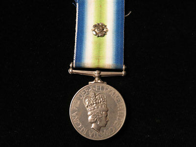 South Atlantic Medal 1982 with Rosette, named in large capitals 'A Jones'.