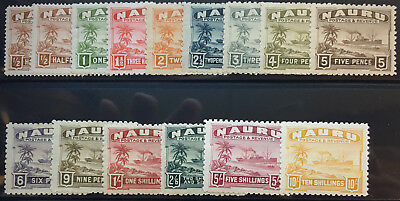 NAURU  17 - 30, 17a    Beautiful  Mint Light  Hinged  Set  OD50