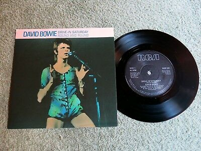 DAVID BOWIE Drive-in Saturday Ireland RCA 7-inch Lifetimes Solid centre BOW 501!