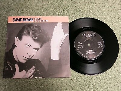 DAVID BOWIE Heroes Ireland RCA 7-inch Lifetimes Solid centre BOW 513!