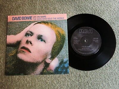 DAVID BOWIE life on Mars Ireland RCA 7-inch Lifetimes Solid centre BOW 502!