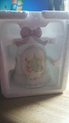 1997 Precious Moments Porcelain Christmas Bell By Enesco Avon Collectibles Nib