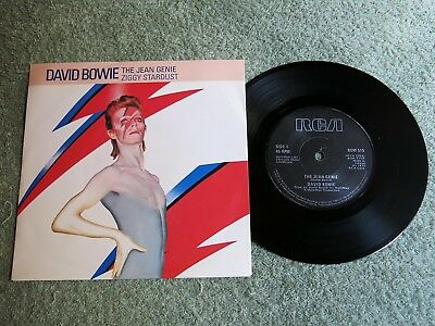 DAVID BOWIE the Jean Genie Ireland RCA 7-inch Lifetimes Solid centre BOW 515!