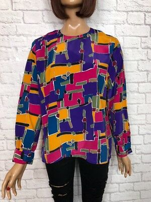 ❤️ Vintage 90's Neon Bright Hipster Oversize Festival Blogger Tunic Top Shirt