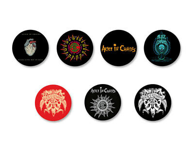 Lot Badge Button Pins Patch Ø38mm Alice in Chains Rock Grunge USA