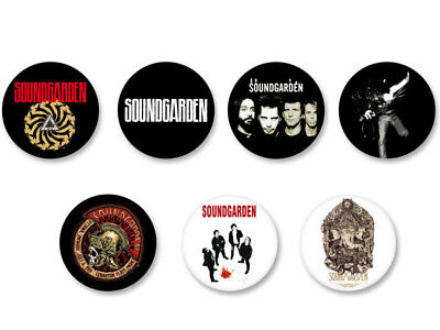 Lot Badge Button Pins Patch Ø38mm Soundgarden Rock Grunge USA