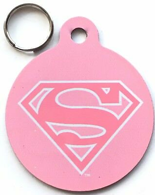 Super Girl Official Marvel & DC Comics - Dog/Cat Pet ID Tag Large 37 mm